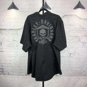 Harley Davidson Button Down Shirt Short Sleeve 387